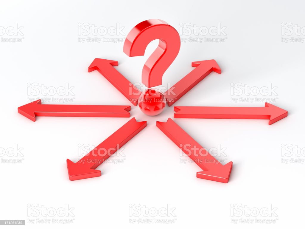 question mark and arrow sign royalty-free stock photo