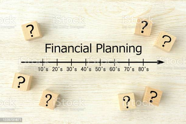 Question Mark And Financial Planning Images Stock Photo - Download Image Now