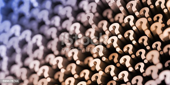 istock Question mark background, 3d rendering 599678244