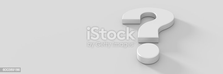istock Question mark background, 3d rendering 600389186
