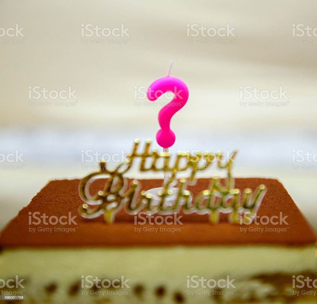 Question Mark Birthday Candle stock photo