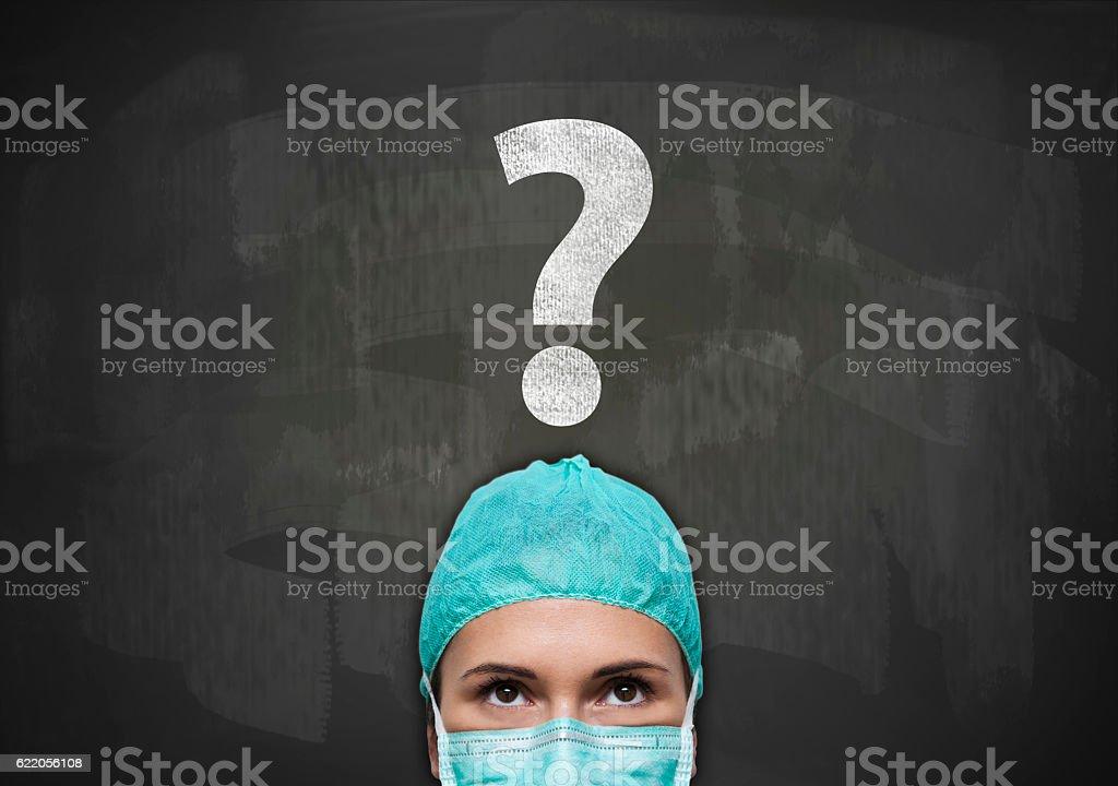 Question mark / Blackboard concept (Click for more) stock photo