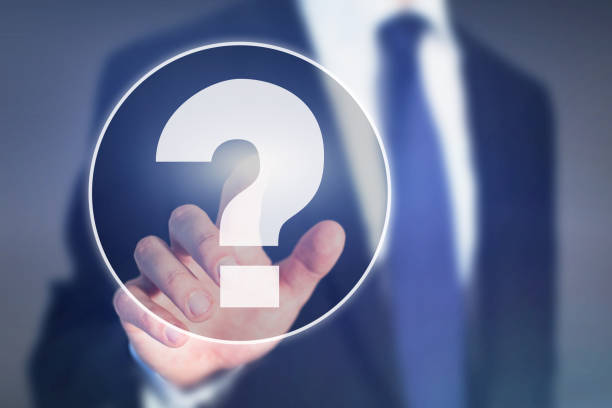 question mark, business help concept, ask expert - gesundheitsfragen stock-fotos und bilder