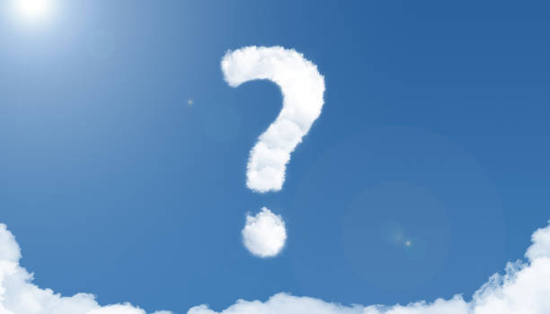 question mark cloud sky stock photo