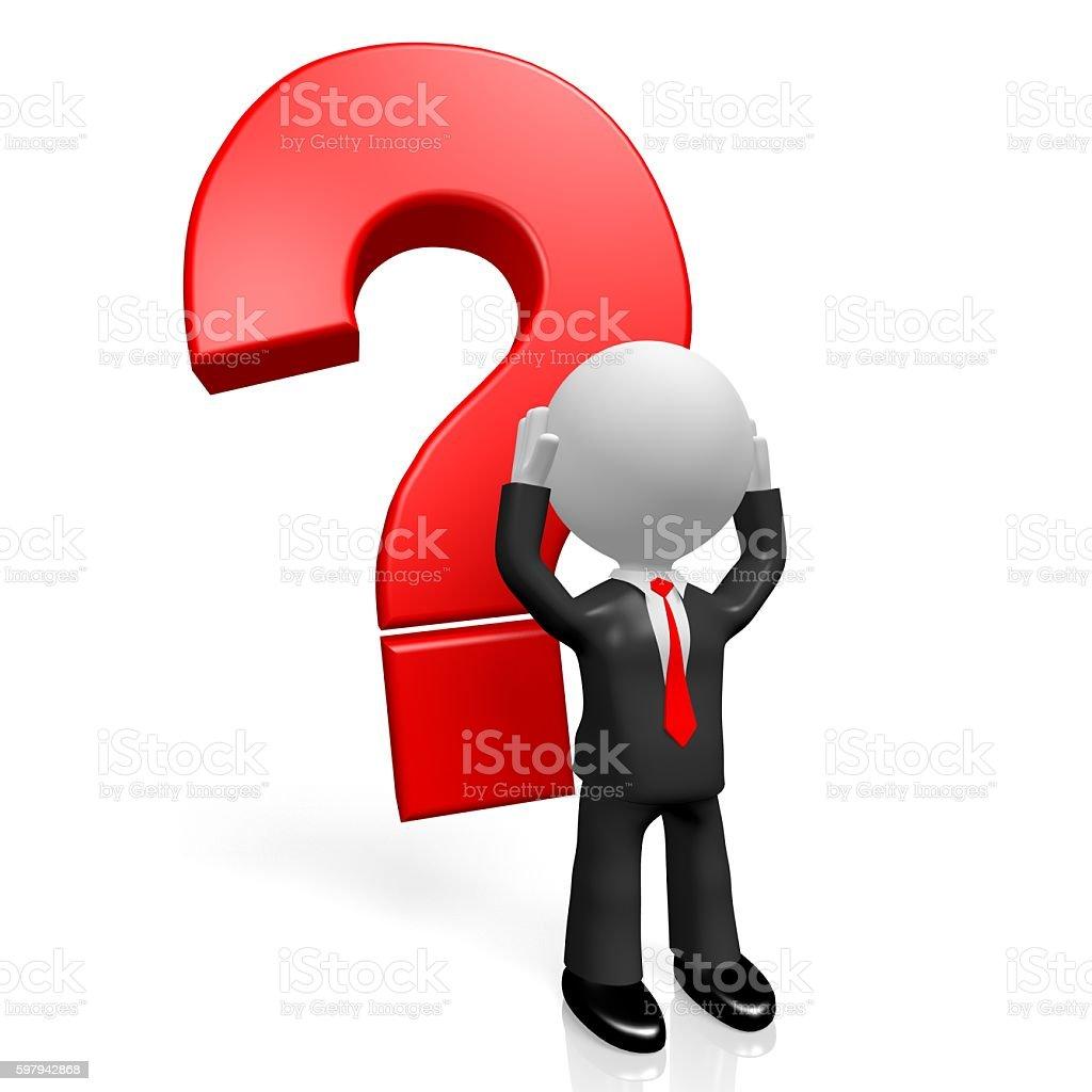 3 D conceito de Interrogação foto royalty-free