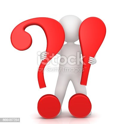 Question Mark Exclamation Mark 3d Red Sign Symbol Icon For Question