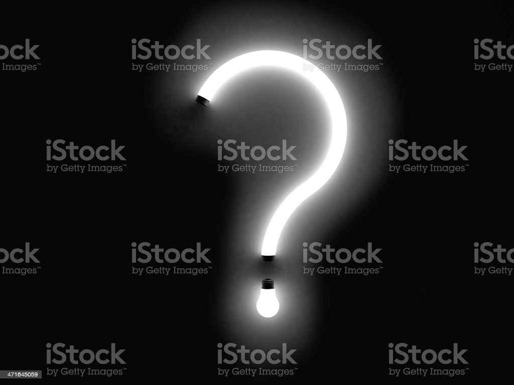 question mark fluorescent royalty-free stock photo