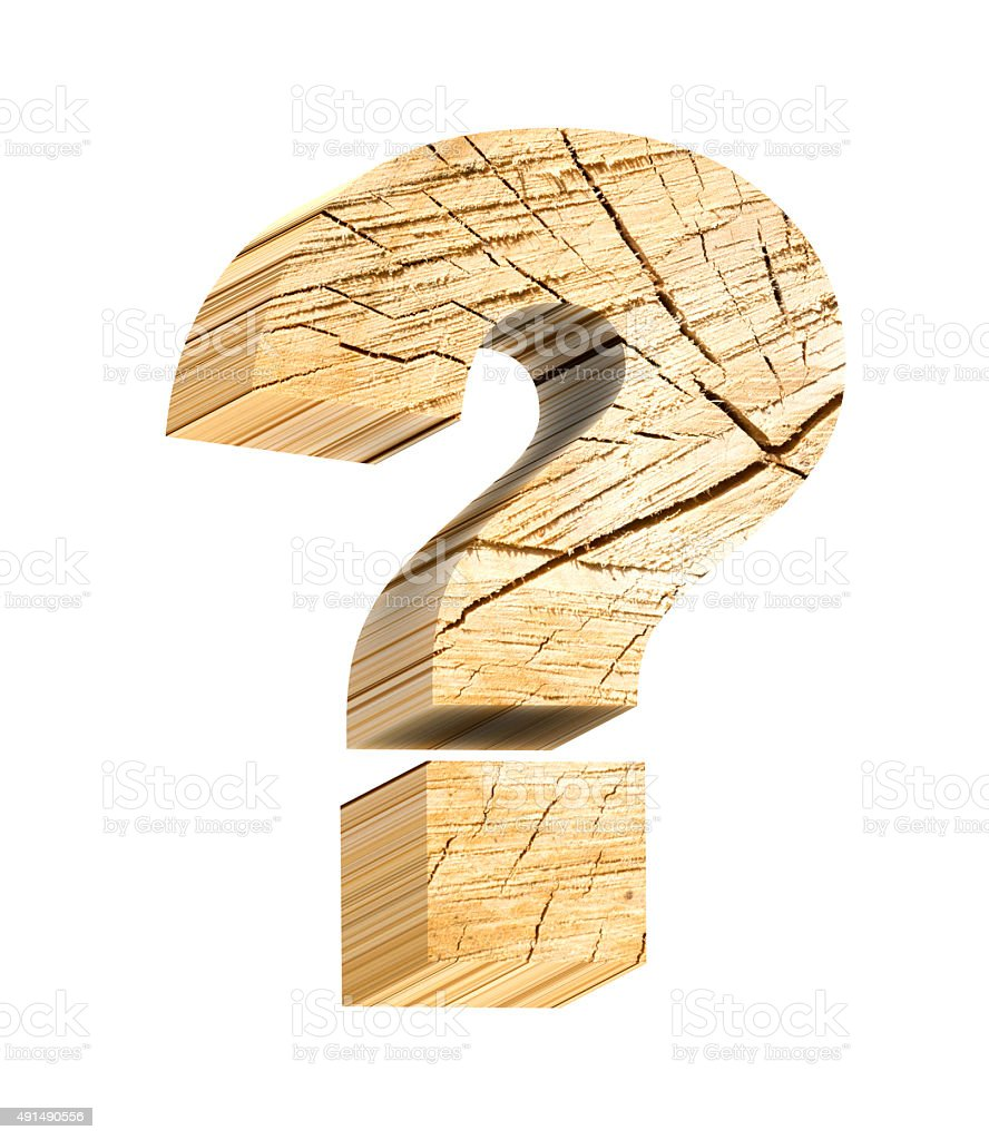 Objet Deco En Bois question mark from pine wood alphabet set isolated over