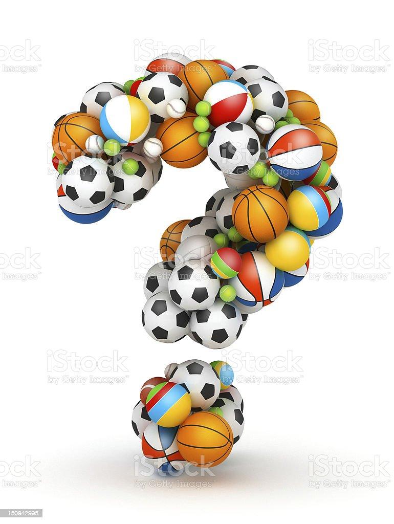 Question mark , gaming balls alphabet stock photo