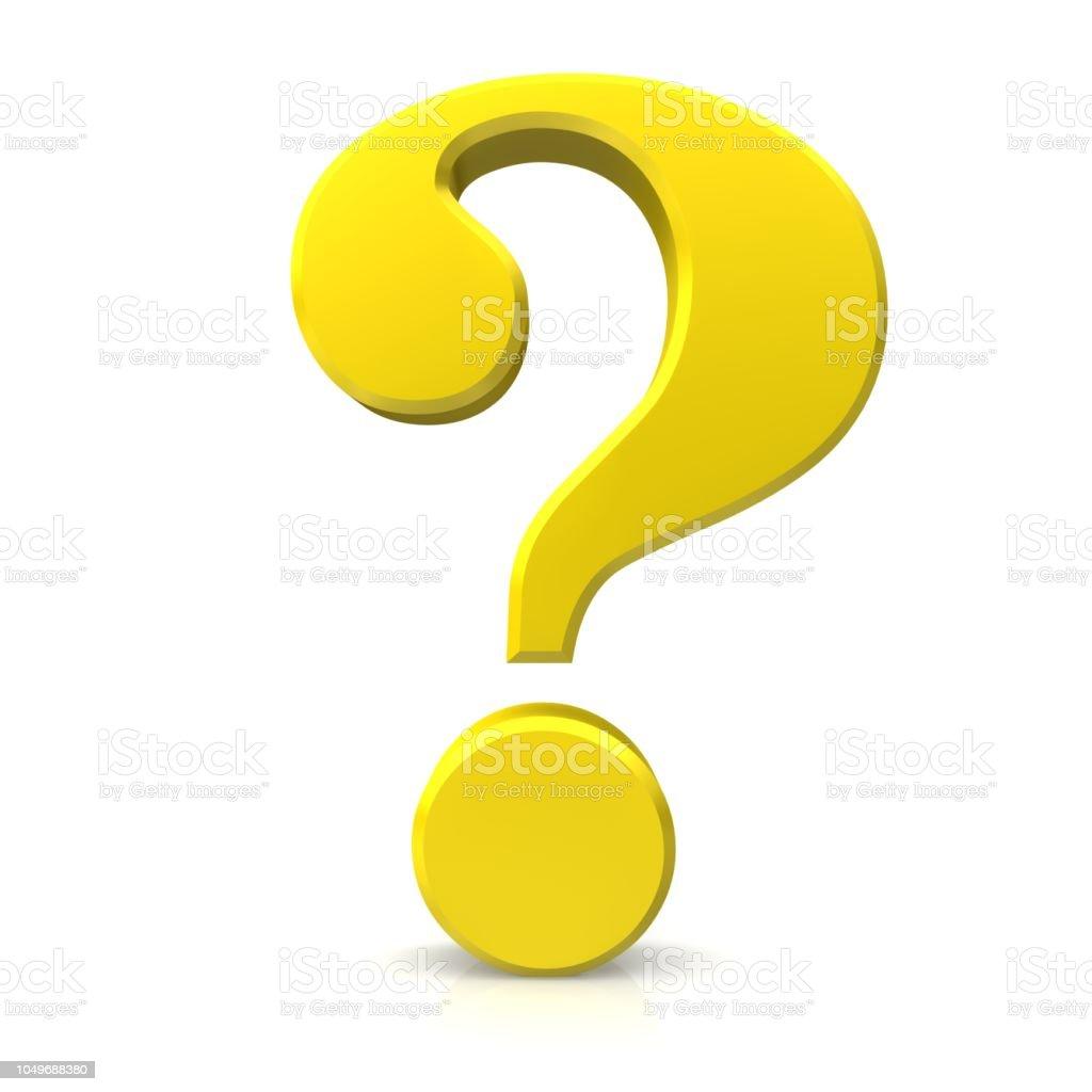 vraagteken goud 3d ondervraging punt vragen teken leren vragenlijst symboolpictogram geïsoleerd op witte achtergrond foto