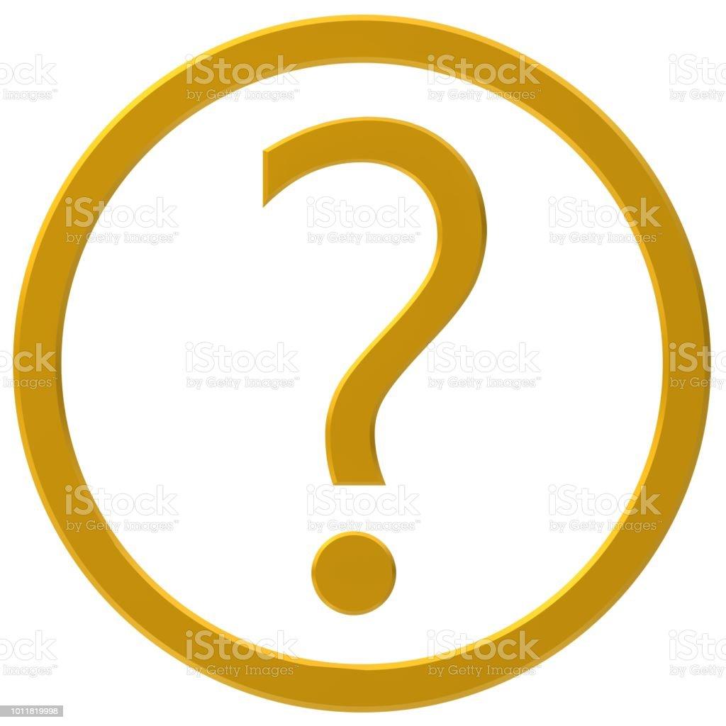 vraagteken gouden 3d query ondervraging punt vragen teken hulp steun help vragenlijst symboolpictogram geïsoleerd op witte achtergrond foto