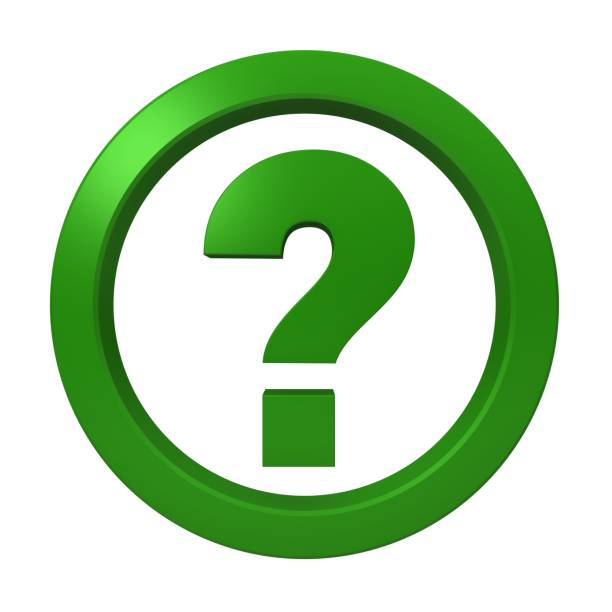 question mark green interrogation point icon sign symbol 3d render graphic logo isolated on white background stock photo