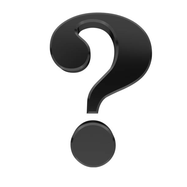 question mark icon 3d black interrogation point asking sign punctuation mark query icon on white background stock photo