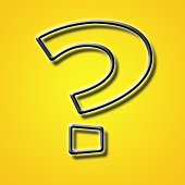 Question mark icon isolated on a special yellow banner background abstract
