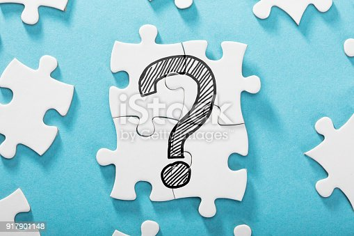 istock Question Mark Icon On White Puzzle 917901148