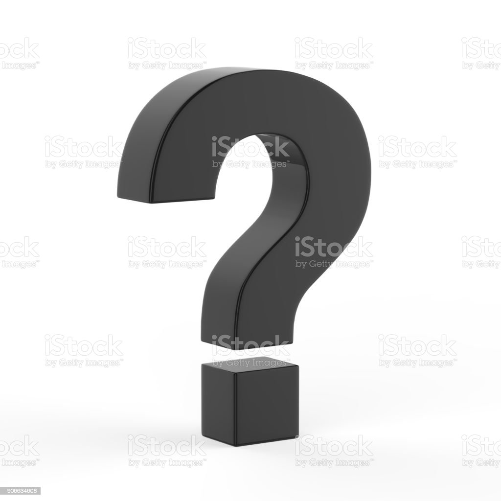 Question Mark Icon stock photo