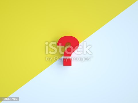 istock Question mark icon. 956437560
