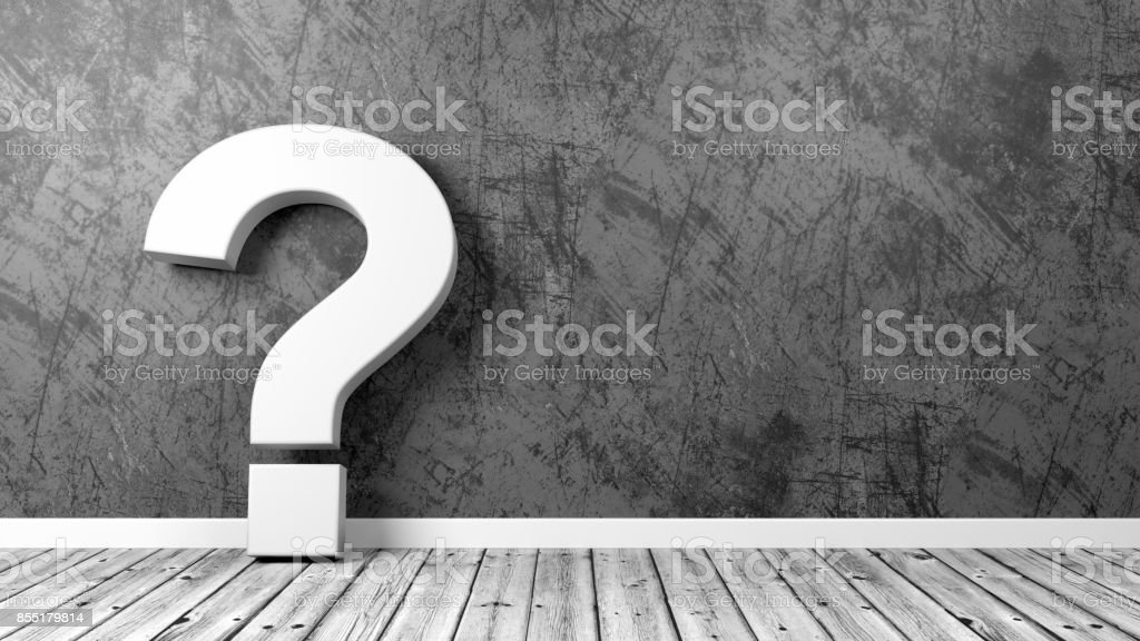 Question Mark in the Room stock photo
