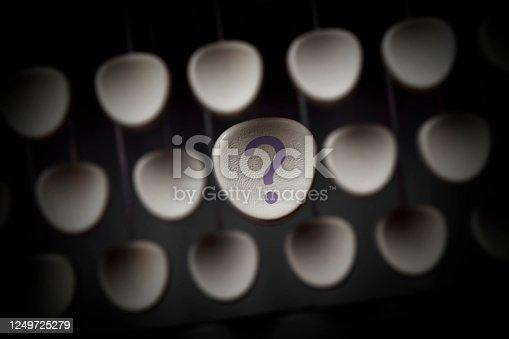 1048039800 istock photo Question mark key 1249725279