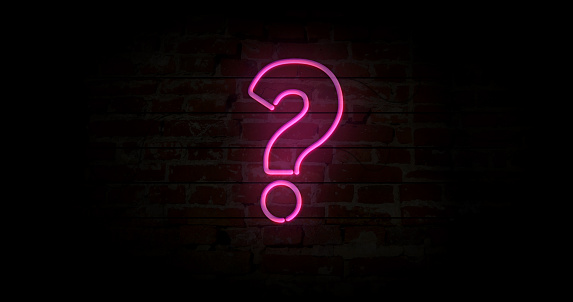 istock Question mark neon sign 1084098726