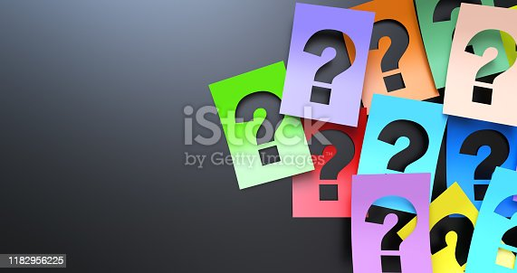 Question Mark On Colorful Paper