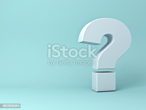 istock Question mark on green background with shadow 692958384