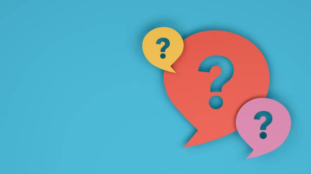 Question Mark on Speech Bubble - foto stock