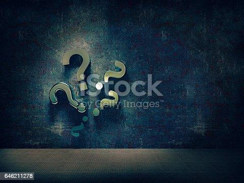 istock question mark on the wall 646211278