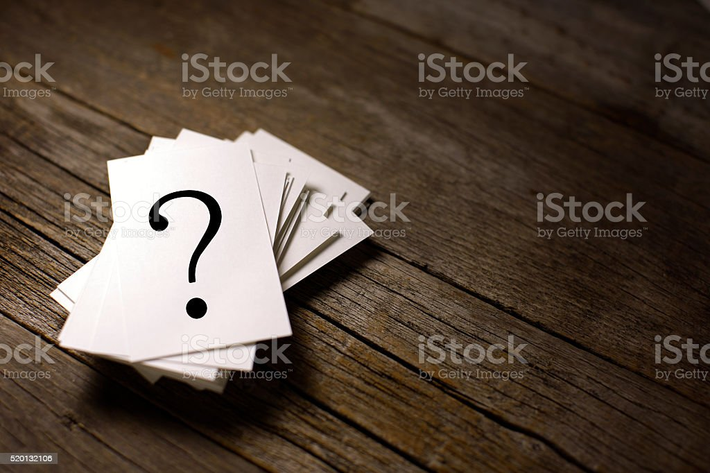 Fragezeichen Lizenzfreies stock-foto