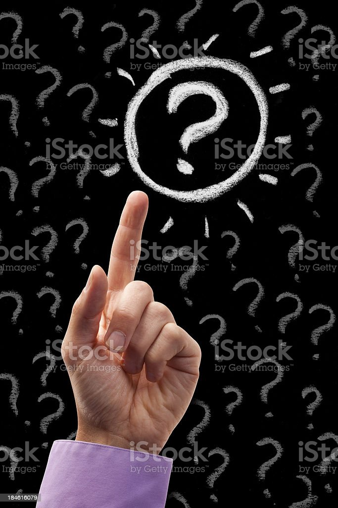 Question Mark Point royalty-free stock photo