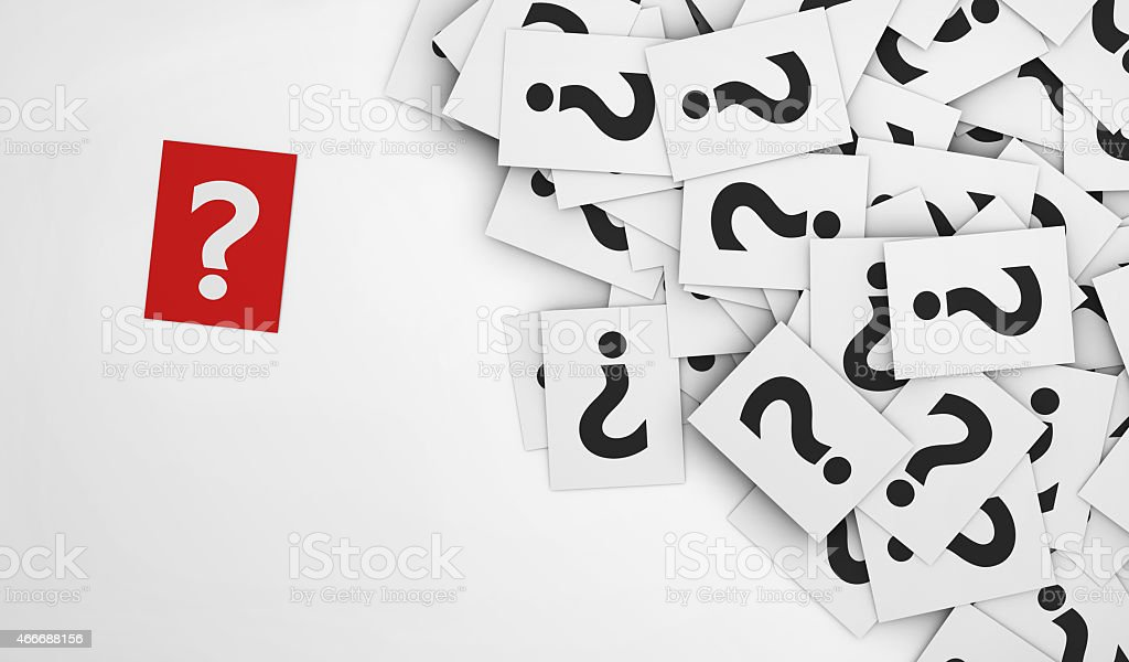 Question Mark Red Paper stock photo