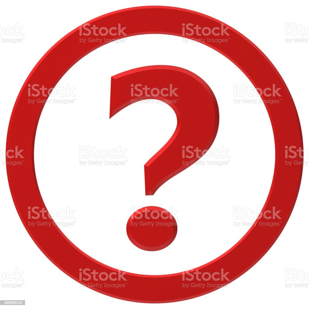 Question Mark Red Questions And Answer Red 3d Symbol Asking Sign