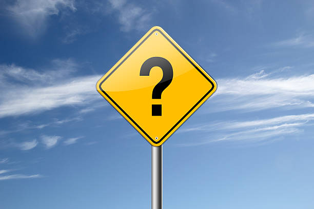 Question Mark Road sign. stock photo
