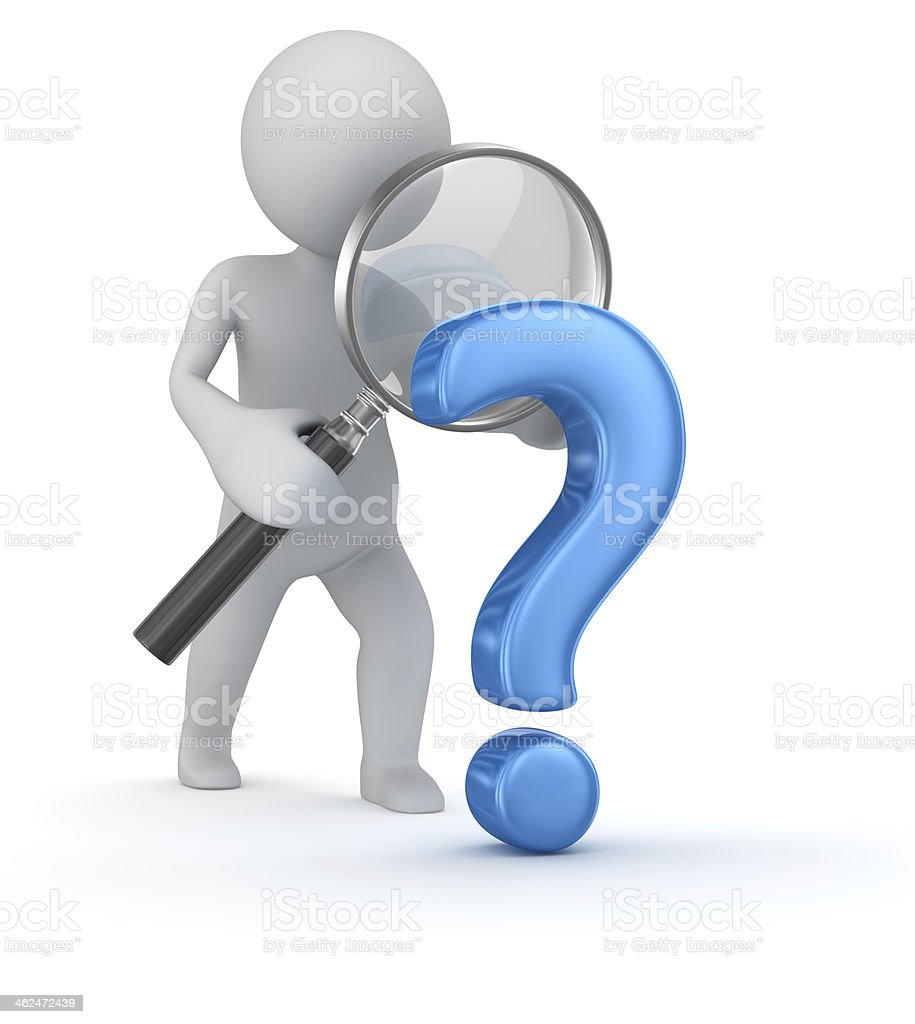 Question mark search stock photo