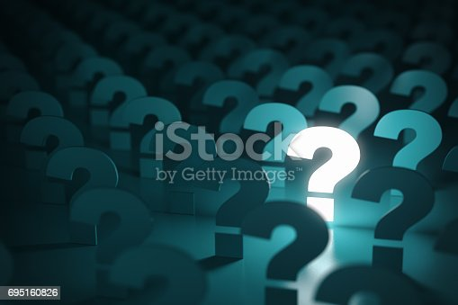istock Question mark sign. Idea or problem concept background. 695160826