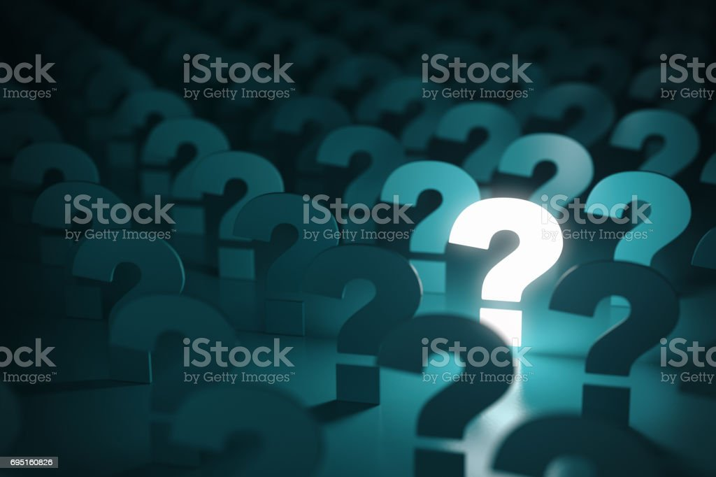 Question mark sign. Idea or problem concept background. stock photo
