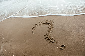 istock question mark sign in sand beach 874274844