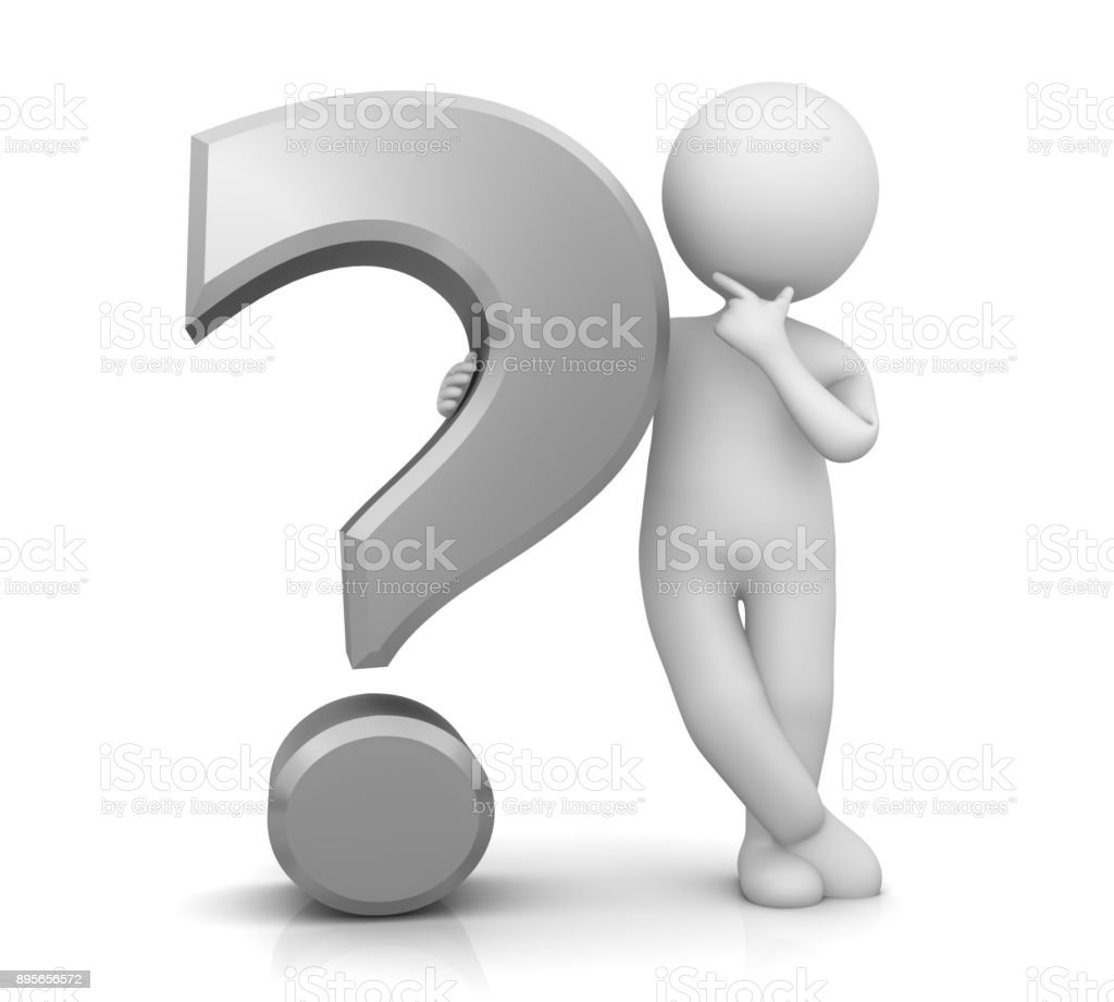 Royalty Free Stick Figure Question Mark People Asking ...