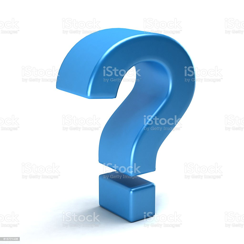 Question Mark Symbol. 3D Rendering Illustration stock photo