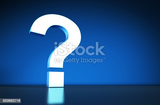 istock Question Mark Symbol On Blue Background 533983218