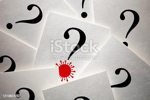 1048039800 istock photo Question mark with Coronavirus 1213823207