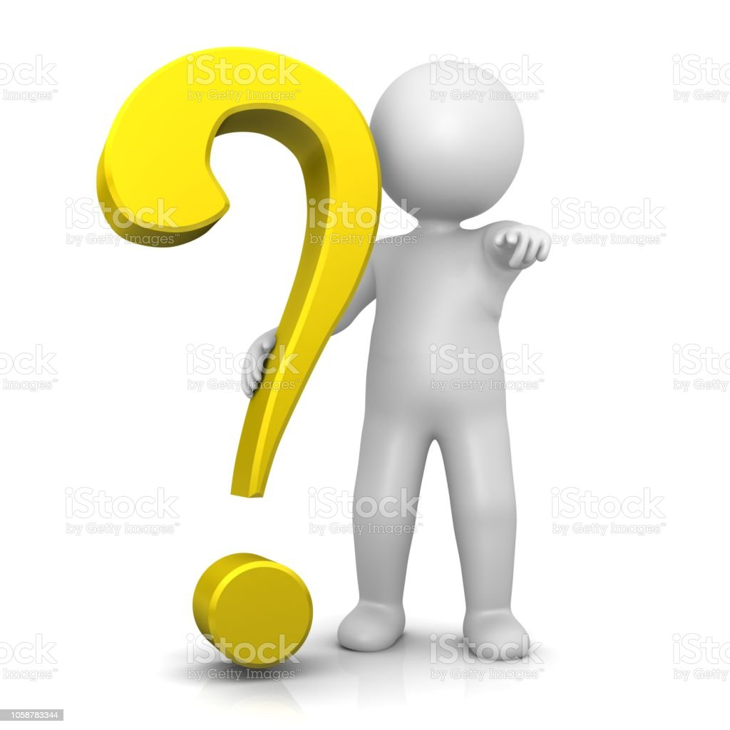 Question Mark Yellow 3d Interrogation Point Asking Sign ...