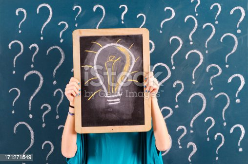 184960675 istock photo Question marks and idea 171271549