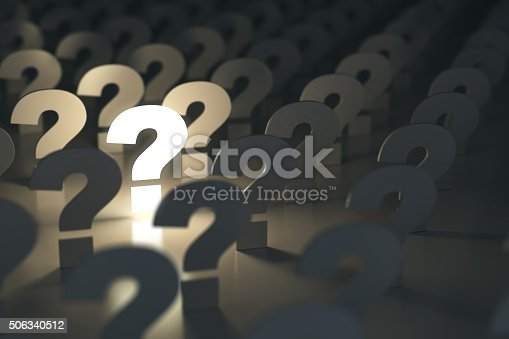 istock Question marks. Idea or problem concept. 506340512