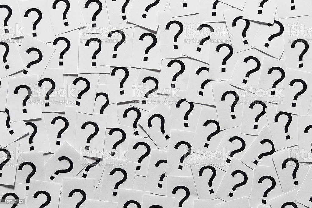 Question Marks royalty-free stock photo