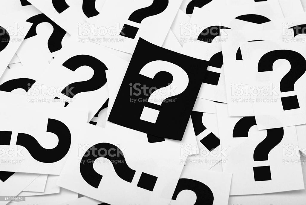 Pregunta de marcas foto de stock libre de derechos