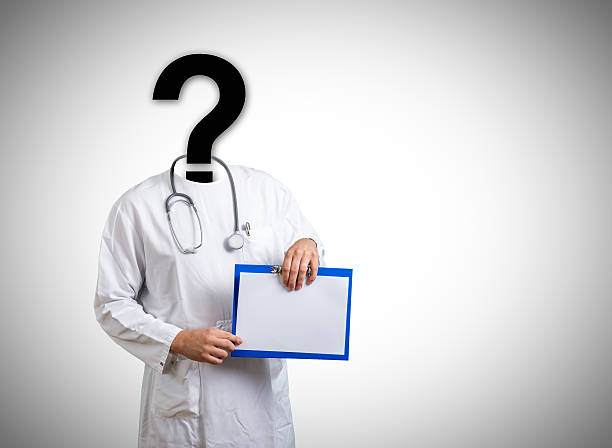 Question medical doctor stock photo
