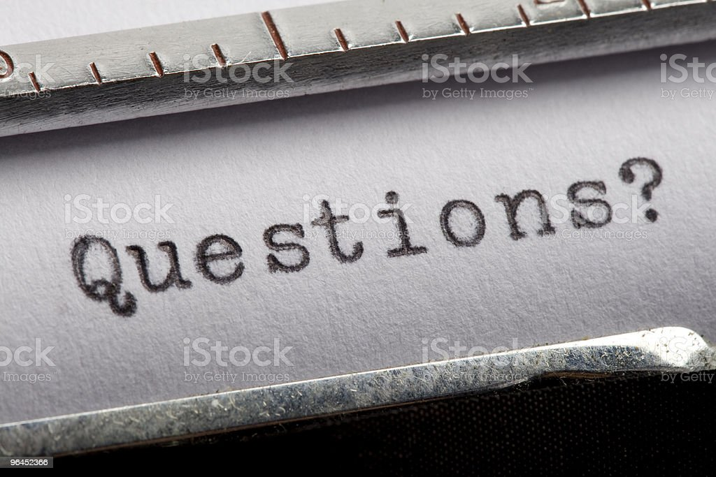 Question royalty-free stock photo