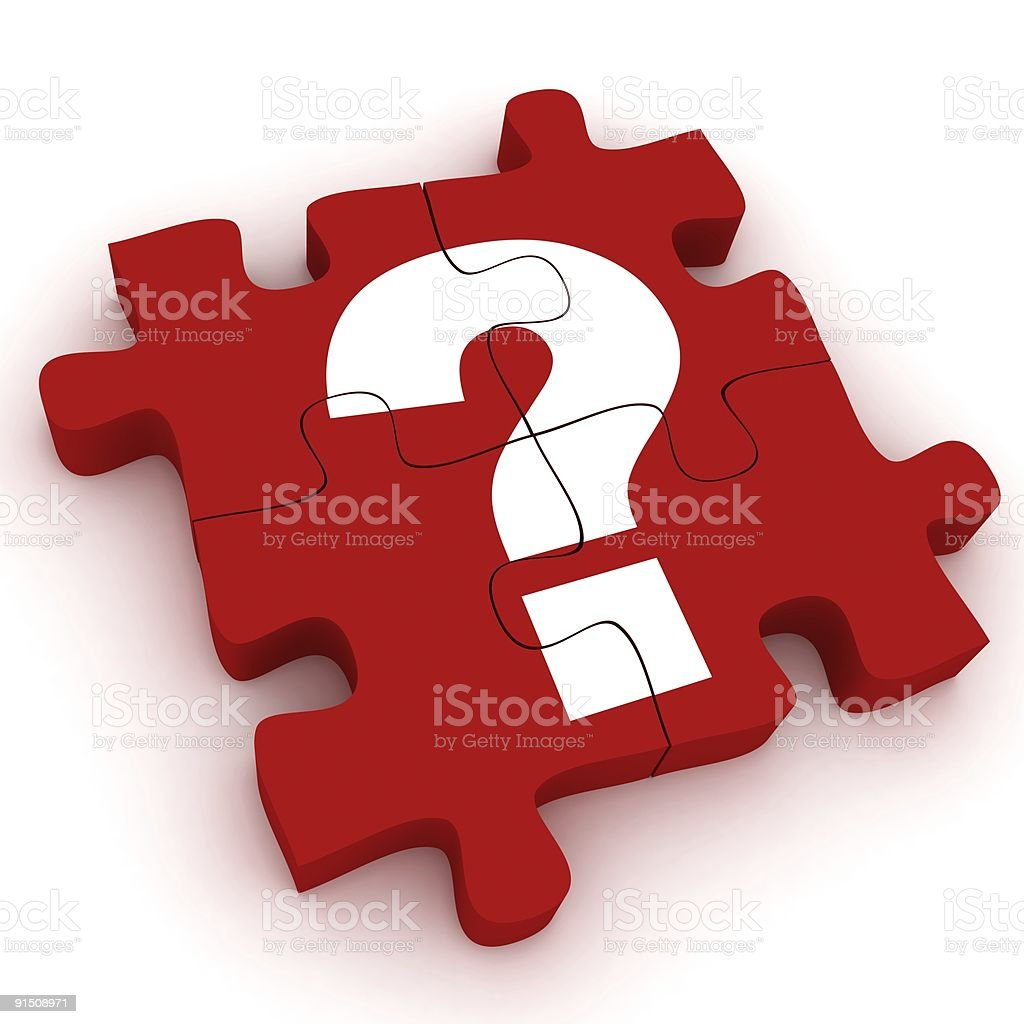 Question Puzzle royalty-free stock photo