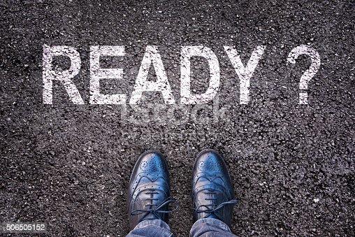 istock Question Ready ? written on an asphalt road 506505152